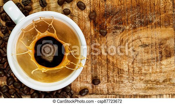 mok, expresso, gespetter, koffie - csp87723672