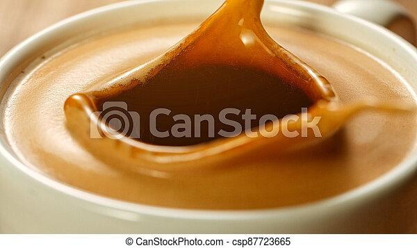 mok, expresso, gespetter, koffie - csp87723665