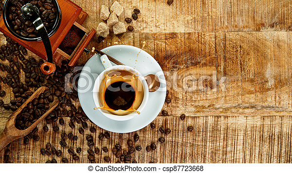 mok, expresso, gespetter, koffie - csp87723668