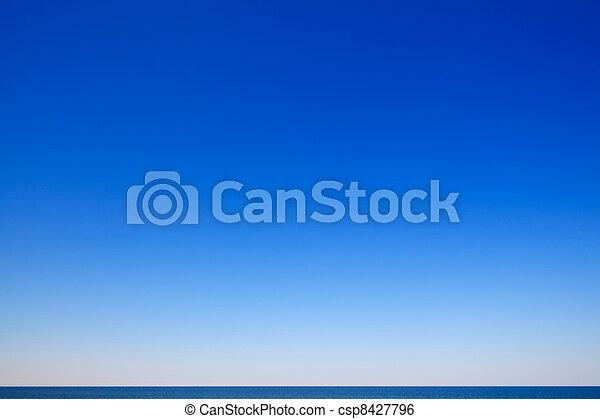 mooi, zeezicht, blauwe hemel - csp8427796
