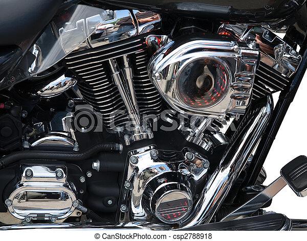 motor, close-up, motorfiets - csp2788918