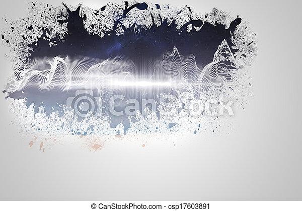muur, gespetter, het openbaren, energie, golf - csp17603891