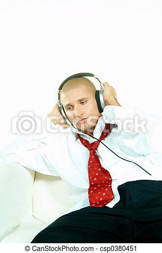 muziek, luisteren - csp0380451