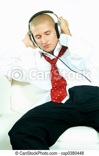 muziek, luisteren - csp0380448