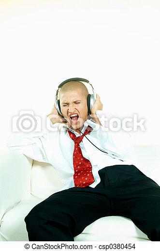 muziek, luisteren - csp0380454