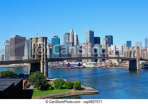 nieuw, skyline, york, stad - csp0827571