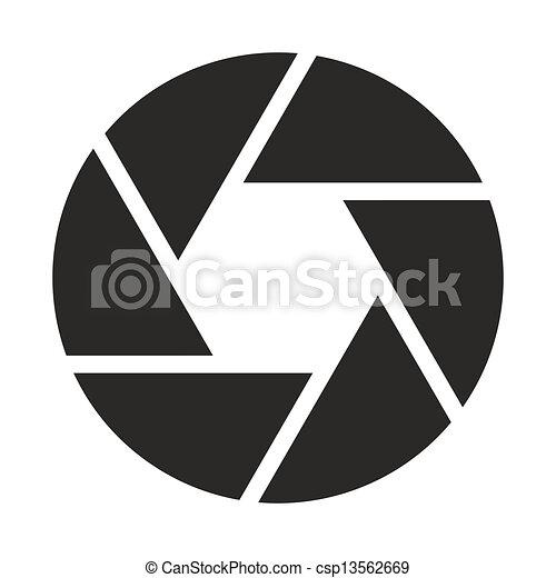 objectief, fototoestel, (symbol), pictogram - csp13562669
