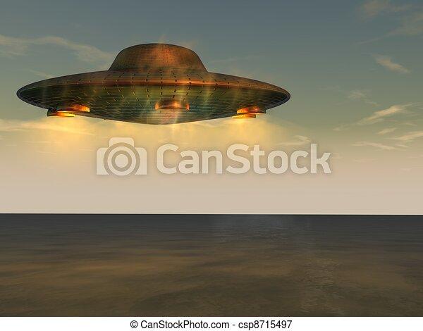 onbekend, vliegen, -, voorwerp, ufo - csp8715497
