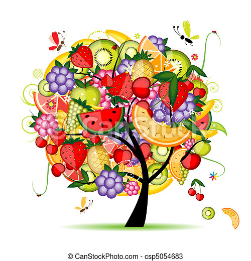 ontwerp, energie, fruit boom, jouw - csp5054683