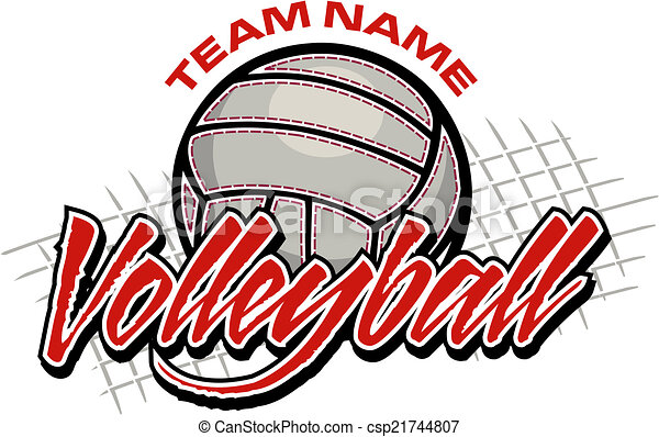 ontwerp, volleybal, team - csp21744807