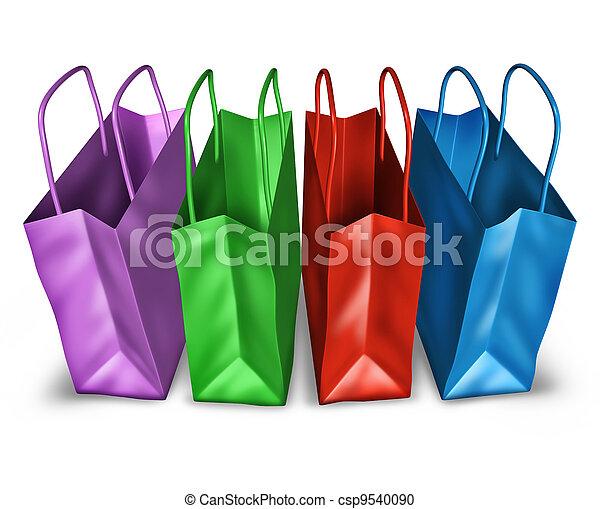 open top, het winkelen zakken, aanzicht - csp9540090