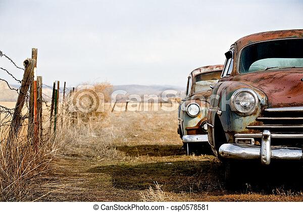 ouderwetse , auto's - csp0578581