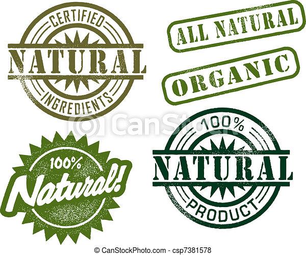 ouderwetse , postzegels, natuurlijke  - csp7381578
