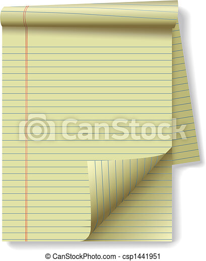 pagina, papier, wettelijk, hoek, geel stootkussen - csp1441951