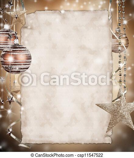 papier, kerstmis, achtergrond, leeg - csp11547522