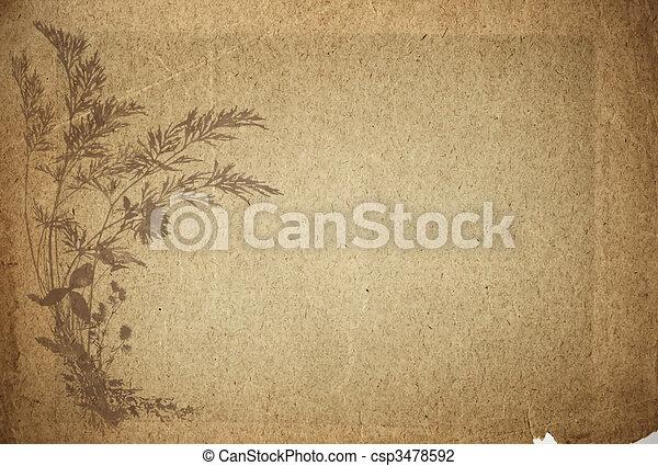 papier, oud, perkament - csp3478592