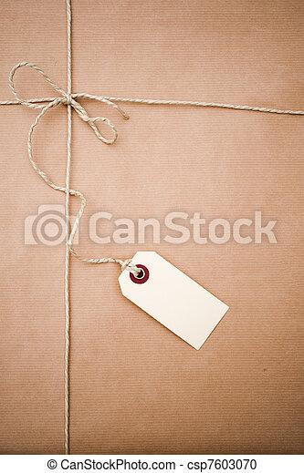 papier, pakket, bruine  - csp7603070