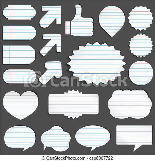papier, voorwerpen - csp8007722