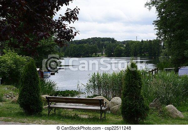parken, meren, parel, crannies, lagow, lubusz - csp22511248