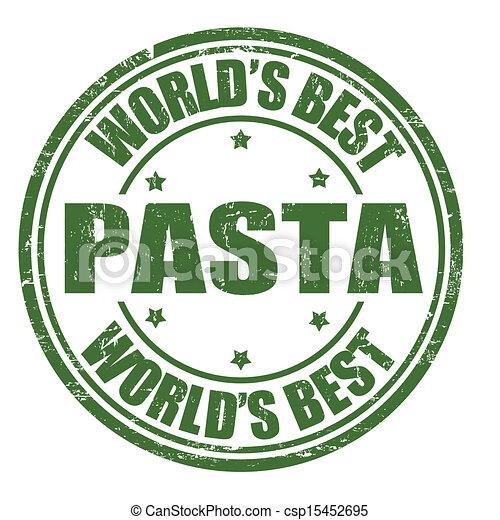 pasta, postzegel - csp15452695