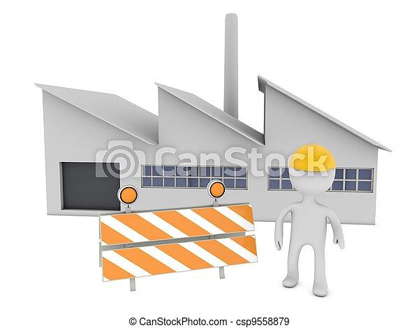 persoon, arbeider, 3d - csp9558879
