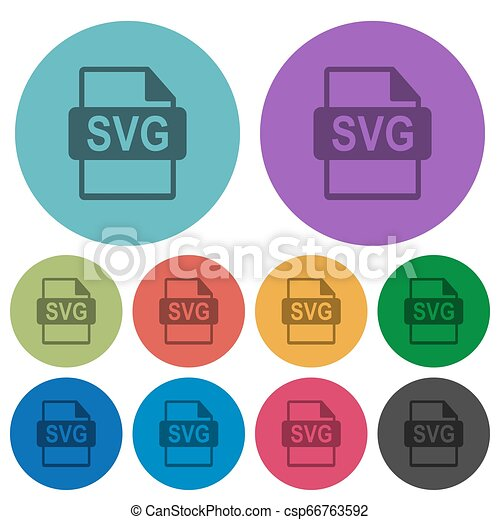 plat, iconen, kleur, svg, formaat, bestand, donkerder - csp66763592