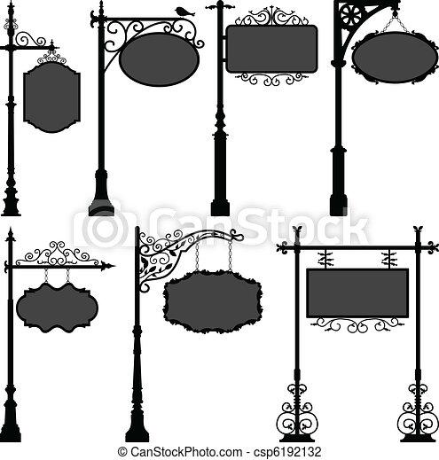pool, straat, signage, frame, meldingsbord - csp6192132