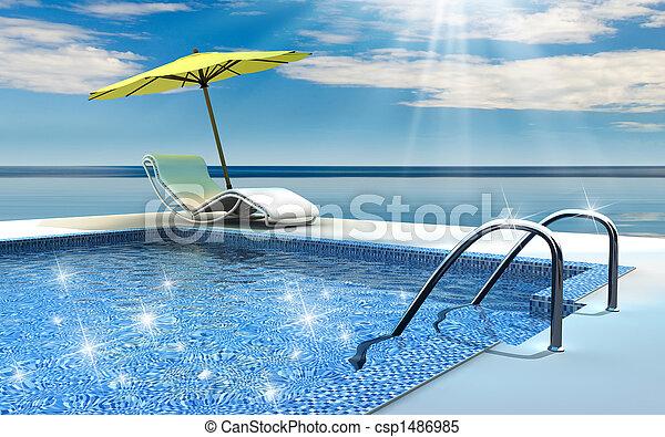 pool, zwemmen - csp1486985