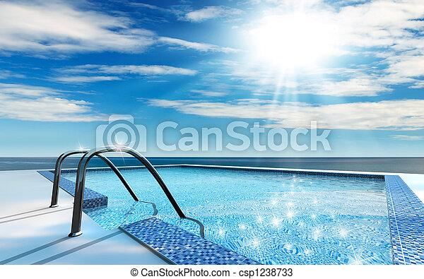 pool, zwemmen - csp1238733