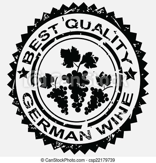 postzegel, duitser, wijntje - csp22179739