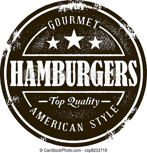 postzegel, hamburger, classieke - csp8233718