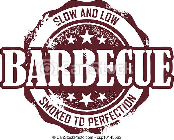 postzegel, ouderwetse , barbecue - csp10145563