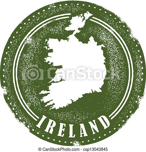 postzegel, ouderwetse , ierland - csp13043845