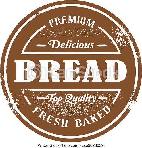 postzegel, ouderwetse , stijl, brood - csp9023059