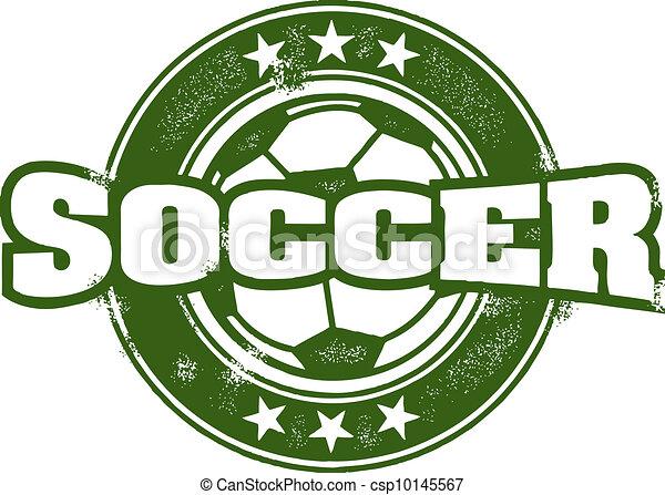 postzegel, ouderwetse , stijl, voetbalelftal - csp10145567