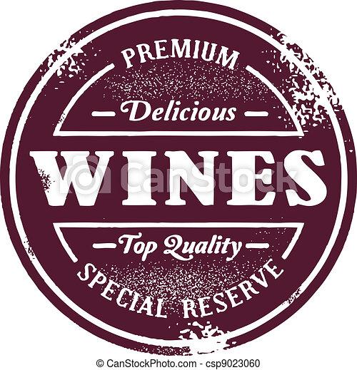 postzegel, ouderwetse , stijl, wijntje - csp9023060