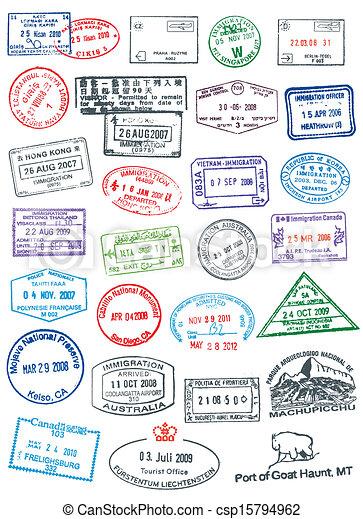 postzegels, paspoort - csp15794962