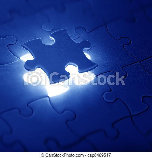 raadsel, decouperen fragment, missende  - csp8469517