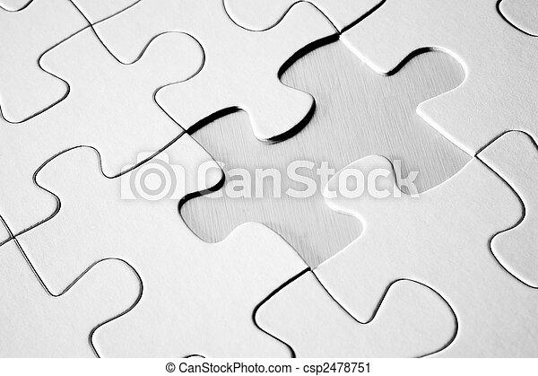 raadsel, jigsaw, vermiste fragment - csp2478751