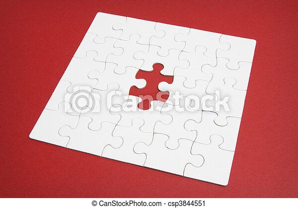 raadsel, jigsaw, vermiste fragment - csp3844551