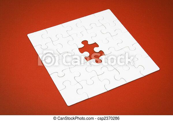 raadsel, jigsaw, vermiste fragment - csp2370286