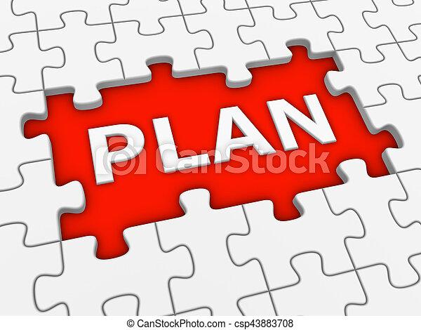 raadsel, word., -, plan, witte , 3d - csp43883708