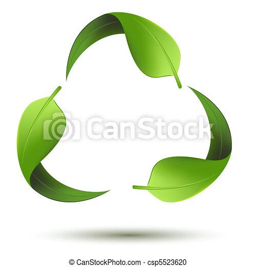 recycleren symbool, blad - csp5523620