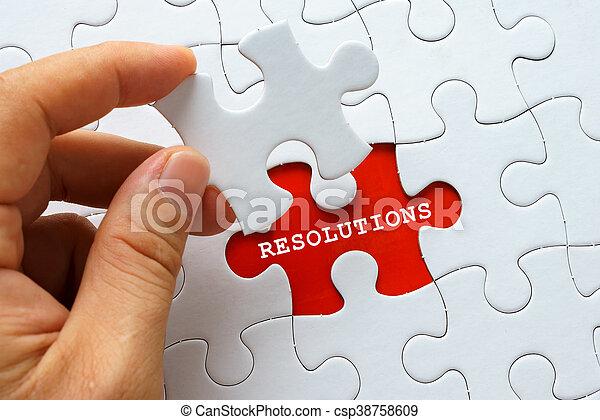 resolutions, witte , woord, raadsel - csp38758609