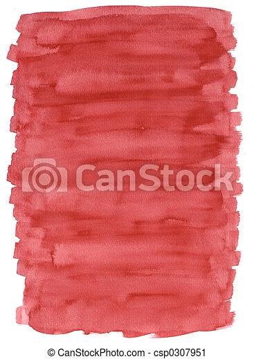 rood, watercolour, s, wassen - csp0307951