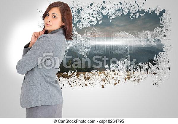 samengestelde afbeelding, het concentreren, bu - csp18264795