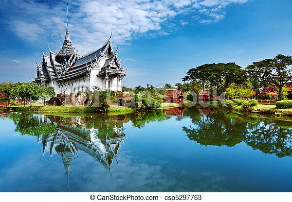sanphet, paleis, prasat, thailand - csp5297763