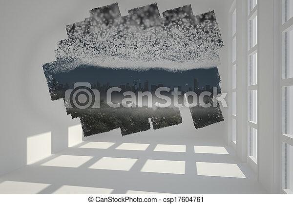 scherm, het tonen, abstract, cit, kamer - csp17604761