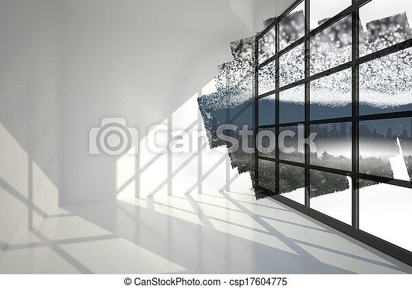 scherm, nacht, het tonen, starry - csp17604775
