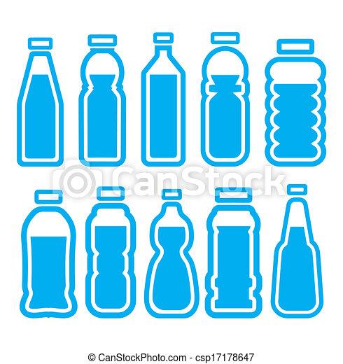 set, fles, plastic - csp17178647
